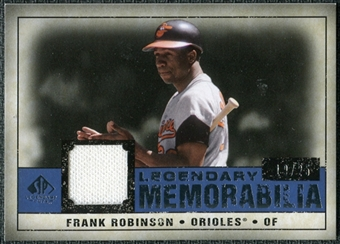 2008 Upper Deck SP Legendary Cuts Legendary Memorabilia Dark Blue #FR Frank Robinson /25