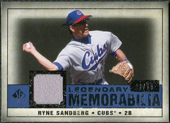 2008 Upper Deck SP Legendary Cuts Legendary Memorabilia Dark Blue Parallel #RS Ryne Sandberg /25
