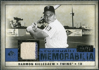 2008 Upper Deck SP Legendary Cuts Legendary Memorabilia Dark Blue Parallel #HK Harmon Killebrew /25