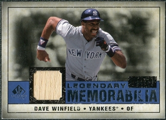2008 Upper Deck SP Legendary Cuts Legendary Memorabilia Dark Blue #DW Dave Winfield /25