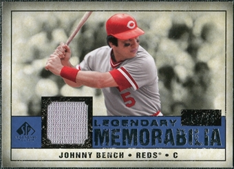 2008 Upper Deck SP Legendary Cuts Legendary Memorabilia Dark Blue #BE Johnny Bench /25
