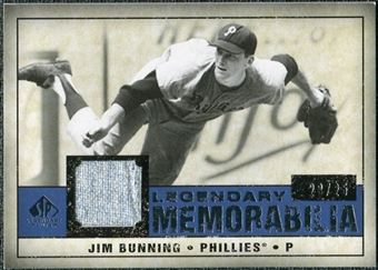 2008 Upper Deck SP Legendary Cuts Legendary Memorabilia Dark Blue Parallel #JB Jim Bunning /25