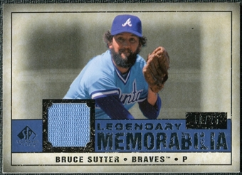 2008 Upper Deck SP Legendary Cuts Legendary Memorabilia Dark Blue #BS Bruce Sutter /25