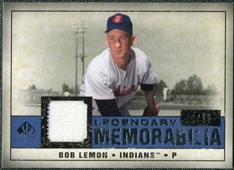 2008 Upper Deck SP Legendary Cuts Legendary Memorabilia Dark Blue #LE Bob Lemon /25