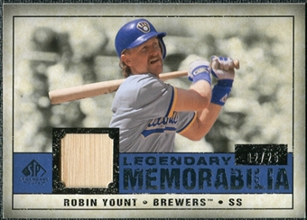 2008 Upper Deck SP Legendary Cuts Legendary Memorabilia Dark Blue #RY Robin Yount /25