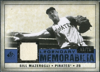 2008 Upper Deck SP Legendary Cuts Legendary Memorabilia Dark Blue #BM Bill Mazeroski /25