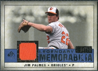 2008 Upper Deck SP Legendary Cuts Legendary Memorabilia Dark Blue #JP Jim Palmer /25