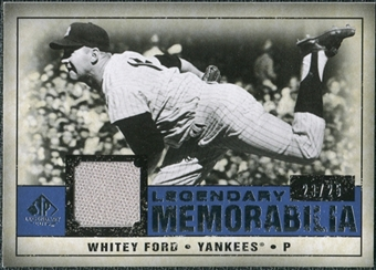 2008 Upper Deck SP Legendary Cuts Legendary Memorabilia Dark Blue #WF Whitey Ford /25