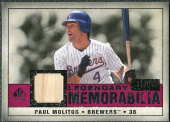 2008 Upper Deck SP Legendary Cuts Legendary Memorabilia Red Parallel #PM Paul Molitor /35