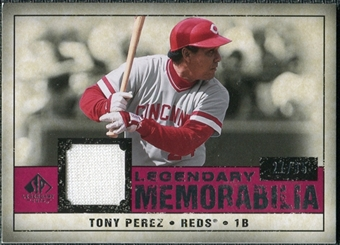 2008 Upper Deck SP Legendary Cuts Legendary Memorabilia Red Parallel #TP Tony Perez /35