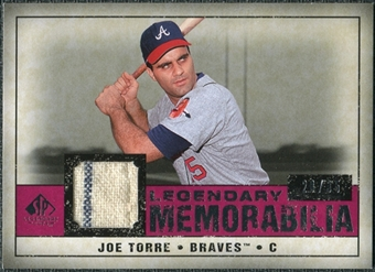 2008 Upper Deck SP Legendary Cuts Legendary Memorabilia Red Parallel #JT Joe Torre /35