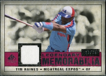 2008 Upper Deck SP Legendary Cuts Legendary Memorabilia Red #TR Tim Raines /35