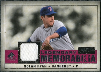2008 Upper Deck SP Legendary Cuts Legendary Memorabilia Red Parallel #NR Nolan Ryan /35