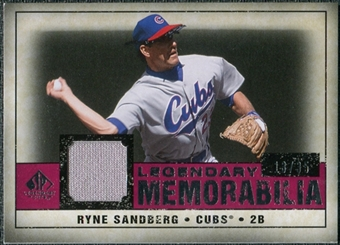 2008 Upper Deck SP Legendary Cuts Legendary Memorabilia Red Parallel #RS Ryne Sandberg /35