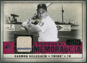 2008 Upper Deck SP Legendary Cuts Legendary Memorabilia Red Parallel #HK Harmon Killebrew /35