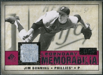 2008 Upper Deck SP Legendary Cuts Legendary Memorabilia Red Parallel #JB Jim Bunning /35