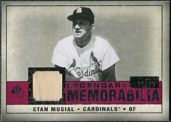 2008 Upper Deck SP Legendary Cuts Legendary Memorabilia Red Parallel #SM Stan Musial /35