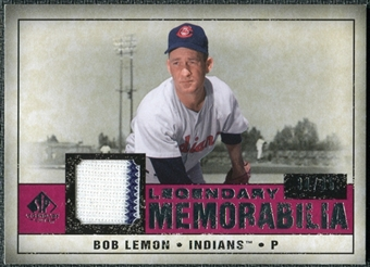 2008 Upper Deck SP Legendary Cuts Legendary Memorabilia Red Parallel #LE Bob Lemon /35