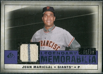 2008 Upper Deck SP Legendary Cuts Legendary Memorabilia Violet Parallel #JM Juan Marichal /50