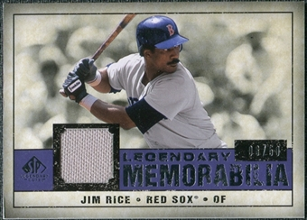 2008 Upper Deck SP Legendary Cuts Legendary Memorabilia Violet #RI Jim Rice /50