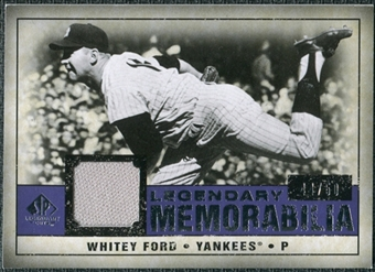 2008 Upper Deck SP Legendary Cuts Legendary Memorabilia Violet Parallel #WF Whitey Ford /50