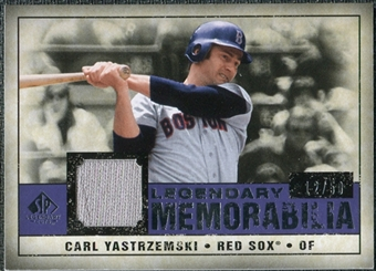 2008 Upper Deck SP Legendary Cuts Legendary Memorabilia Violet #CY Carl Yastrzemski /50