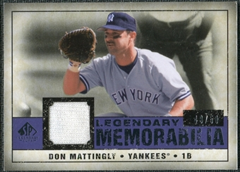 2008 Upper Deck SP Legendary Cuts Legendary Memorabilia Violet #DM Don Mattingly /50