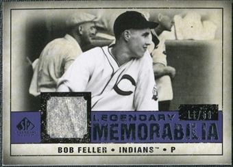 2008 Upper Deck SP Legendary Cuts Legendary Memorabilia Violet #BF Bob Feller /50