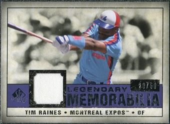 2008 Upper Deck SP Legendary Cuts Legendary Memorabilia Violet #TR Tim Raines /50