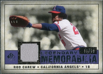 2008 Upper Deck SP Legendary Cuts Legendary Memorabilia Violet Parallel #CA Rod Carew /50
