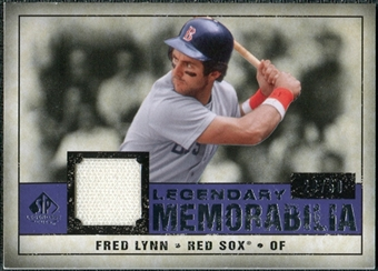 2008 Upper Deck SP Legendary Cuts Legendary Memorabilia Violet Parallel #FL Fred Lynn /50