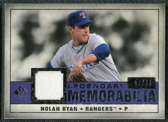 2008 Upper Deck SP Legendary Cuts Legendary Memorabilia Violet Parallel #NR Nolan Ryan /50