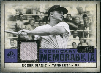2008 Upper Deck SP Legendary Cuts Legendary Memorabilia Violet Parallel #RM Roger Maris /50