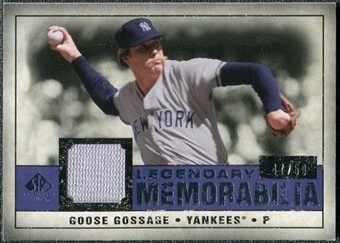 2008 Upper Deck SP Legendary Cuts Legendary Memorabilia Violet #GG Goose Gossage /50