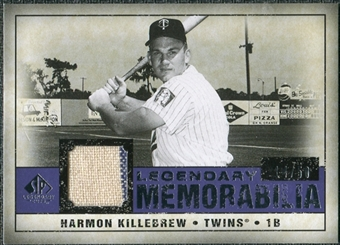 2008 Upper Deck SP Legendary Cuts Legendary Memorabilia Violet Parallel #HK Harmon Killebrew /50
