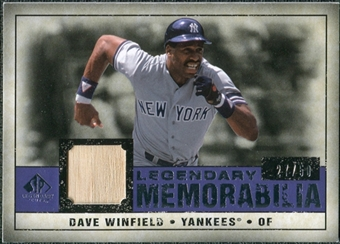 2008 Upper Deck SP Legendary Cuts Legendary Memorabilia Violet #DW Dave Winfield /50