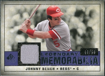 2008 Upper Deck SP Legendary Cuts Legendary Memorabilia Violet Parallel #BE Johnny Bench /50