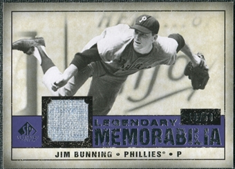 2008 Upper Deck SP Legendary Cuts Legendary Memorabilia Violet Parallel #JB Jim Bunning /50