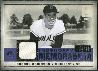 2008 Upper Deck SP Legendary Cuts Legendary Memorabilia Violet #RO Brooks Robinson /50