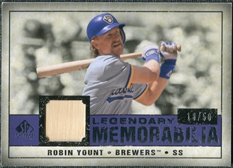 2008 Upper Deck SP Legendary Cuts Legendary Memorabilia Violet Parallel #RY Robin Yount /50