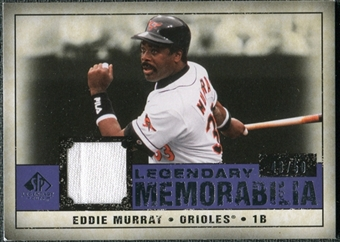 2008 Upper Deck SP Legendary Cuts Legendary Memorabilia Violet Parallel #EM Eddie Murray /50