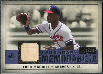 2008 Upper Deck SP Legendary Cuts Legendary Memorabilia Violet Parallel #FM Fred McGriff /50