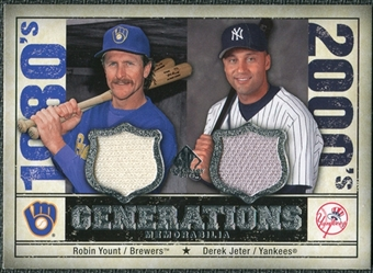 2008 Upper Deck SP Legendary Cuts Generations Dual Memorabilia #YJ Robin Yount Derek Jeter