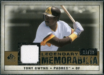 2008 Upper Deck SP Legendary Cuts Legendary Memorabilia #TG2 Tony Gwynn /99