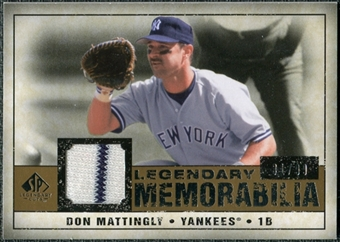 2008 Upper Deck SP Legendary Cuts Legendary Memorabilia #DM Don Mattingly /99