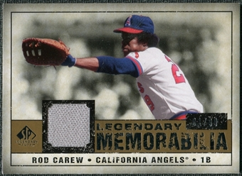 2008 Upper Deck SP Legendary Cuts Legendary Memorabilia #CA Rod Carew /99