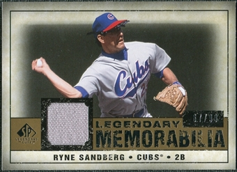 2008 Upper Deck SP Legendary Cuts Legendary Memorabilia #RS Ryne Sandberg /99