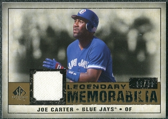 2008 Upper Deck SP Legendary Cuts Legendary Memorabilia #JC Joe Carter /99
