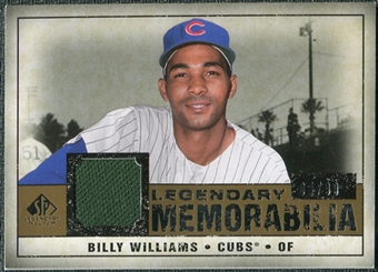 2008 Upper Deck SP Legendary Cuts Legendary Memorabilia #BW Billy Williams /99