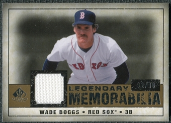 2008 Upper Deck SP Legendary Cuts Legendary Memorabilia #WB2 Wade Boggs /99